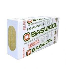Утеплитель BASWOOL Лайт-45 (НГ) 1200*600*50 (4,32 м2/0,216 м3)  6л/упак